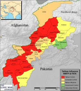 Taliban controlled map of Pakistan