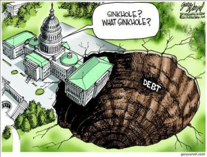 sink hole of debt